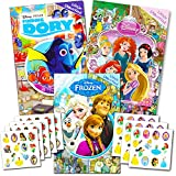 (Girls Assortment) - Disney Look and Find Books for Kids -- Set of 3 Disney Find It Books Featuring Disney Princess, Frozen and More