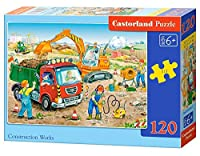 Castorland Construction Works Puzzle (120 Piece) [並行輸入品]