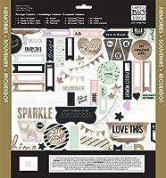 me & my BIG ideas Scrapbook Page Kit, Gold Rush, 12-Inch by 12-Inch by Me & My Big Ideas
