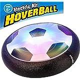 AQUEOUS空気の力で浮く 室内用サッカーおもちゃ LEDホバーボールLEDホバーボール 空気の力で浮く 室内用サッカーボール 玩具 (黒い)
