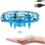 UFO Mini Drone Hand Operated Drones Small UFO Flying Toy With LED Light Hand Controlled Flying Ball Indoor Outdoor Motion Sen