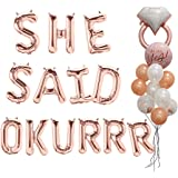 SHE Said OKURRR Balloons Bachelorette Party Decorations Kit - Bridal Shower Party Balloons & Supplies - Complete Hen Party.