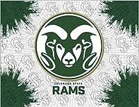 Colorado State Rams HBSグレーグリーンキャンバス壁アート画像印刷