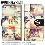 chatte noir Galaxy S9 ケース SC-02K SCV38 カバー ギャラクシー S9 ケース 手帳型 おしゃれ surf サーフ サーフィン パームツリー ボ..
