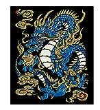 東洋ケース シール デコレーション (スマホ・ガラケー) 蒔絵シール 守護神獣絵巻 青龍 SHINJU-01