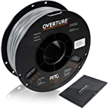 OVERTURE PETG Filament 1.75mm with 3D Build Surface 200 x 200 mm 3D Printer Consumables, 1kg Spool (2.2lbs), Dimensional Accu