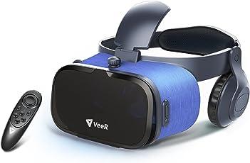 VeeRオアシスVRゴーグルVRヘッドセットBluetoothリモコン付属 VR酔い軽減3Dバーチャルリアリティー効果iOSアンドロイドiPhone SONY Samsung HUAWEI HTC 全スマホ機種対応VR動画再生ゲーム視点距離及び瞳孔間距離の調整広角レンズ 没入感抜群日本語説明書付属