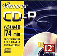 Memorex 650MB/74-Minute 24x CD-R Media (Single Disc with Jewel Case) (Discontinued by Manufacturer) [並行輸入品]
