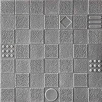 SOOMJ 【10枚 グレー】クッションブリック,壁紙シール 60cm×60cm 防水 防音 断熱 ウォールステッカー レンガタイル 3D おしゃれ 軽量 発泡スチロール風