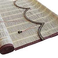 すだれ- 屋内 竹製カーテン ロールアップ式、 ウィンドウブラインドをロールアップします。 バルコニー用ウェーブカーテン、 光フィルタリング80% (サイズ さいず : 70x160cm)