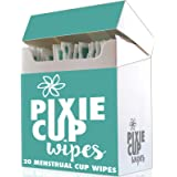 Pixie Menstrual Cup Portable Toilet Paper Wipes - The Best Wipes for Any Period Cup Hands Down - 100% Alcohol Free - Biodegra