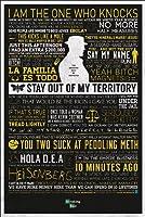 "Breaking Bad–TV Showポスター( Typographic–クラシック引用符) (サイズ: 24"" x 36"" ) Tesa Poster Strips"