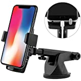 Emmabin Phone Holder for Car Mount Universal Windshield Car Mount Auto Suction Cup Windshield 360 degree Rotation with Extend