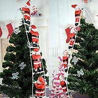 Jinbs クリスマス飾り はしごサンタクロース サンタ人形 四人 クリスマスツリー飾り ドアの装飾 ペンダント人形 ホームインテリア クリスマスデコレーション ドアオーナメント インテリア飾り