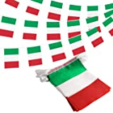 ANLEY Italy Italian Republic String Pennant Banners, Patriotic Events 2nd of June National Day Decoration Sports Bars - 33 Fe
