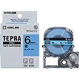 キングジム テープカートリッジ テプラPRO SC6B カラーラベル 6mm 青