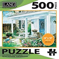 """LANG - 500 Piece Puzzle -""""A Potted Garden"""", Artwork by Laura Berry - Linen Finish - 24"""" x 18"""" Completed"""