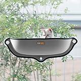K&H WINDOW BED KITTY SILL GREY/KHBD6295GR/ウィンドウベッド/ネジ式吸盤猫用ベッ…