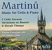 Martinu: Works for Cello and Piano