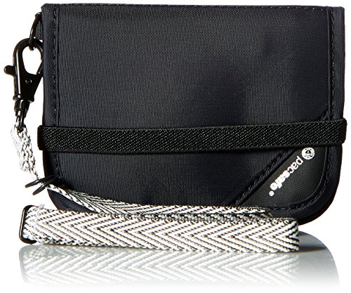Pacsafe Rfidsafe V50 Compact Wallet, Goji Berry, Black (Black) - PAC10551_1_Noir/100