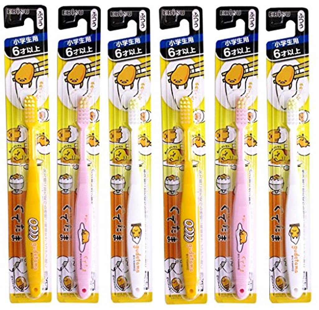 ノミネート多用途電気エビス 歯ブラシ 子供 ぐでたま 6才以上 6本組