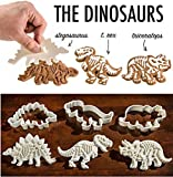 クッキー型 恐竜 3種セット 恐竜の化石 トリケラトプス ステゴサウルス ティラノサウルス