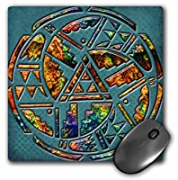 3Drose LLC 8 X 8 X 0.25 Inches Mouse Pad, Designer One of a Kind Native American Art (Mp_108090_1) [並行輸入品]