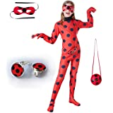 SZ-TONDA Kids Girl Ladybug Costume - Red Ladybird Little Beetle Suit Jumpsuit Halloween Party Cosplay for Women Adult Toddler
