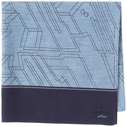 (ランバンオンブルー)LANVIN en Bleu 17501004 先染めメンズハンカチーフ B ネイビー 48の詳細を見る