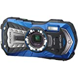 RICOH 防水デジタルカメラ RICOH WG-40W ブルー 防水14m耐ショック1.6m耐寒-10度 RICOH…