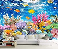 Bzbhart カスタム壁紙HDアンダーウォーターワールドテレビの背景壁の壁画家の装飾リビングルームの寝室の壁画の3D壁紙-120cmx100cm