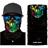 SAINDERMIRA Unisex 3D Skull Printed Balaclava Headwear Multi Functional Face Mask for Outdoor Cycling Riding Motorcycle