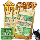 猫砂 エコにゃん ネコ用 トイレ 【 木製猫砂 おがくず 大きめ 120L 】 オーガニック 安全 安心 国産 固まらない