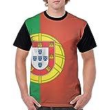 メンズ 半袖 ポルトガルの国旗 夏服 Tシャツ カジュアル 柔らかい 吸水速乾