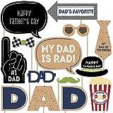 My Dad Is Rad – 父の日写真ブース小道具キット – 20カウント
