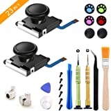 2 Pack Joycon Joystick Replacement, Repair Kit for Nintendo Switch Joy Con, Include 3D Analog Left/Right Thumb Stick, Thumbst