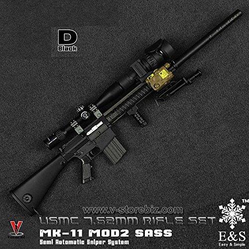 1/6 MK-11 MOD2 SASS ブラック USMC 7.62mmライフルセット (ES-06112D)