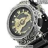 カシオ G-SHOCK ジーショック カスタム メンズ 腕時計 GA-110 GA110 GB カスタムベゼル おしゃれ 芸能人 十字架 クロス メンズ ファッション CROWNCROWN GA110-053