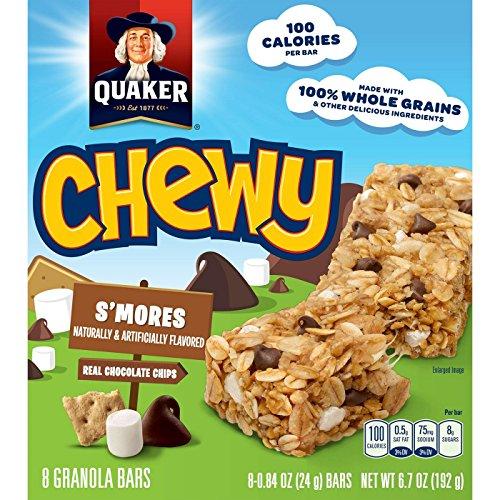 Quaker Chewy Smores Granola Bars クエーカーチュイスモールグラノーラバー190g [並行輸入品]
