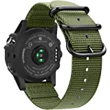 Fintie Band for Garmin Fenix 6X / Fenix 5X Plus/Tactix Charlie Watch, 26mm Premium Woven Nylon Adjustable Strap for Fenix 6X