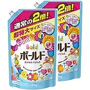 【まとめ買い】 ボールド 洗濯洗剤 液体 香りのサプリインジェル 詰替用 超特大サイズ1.43kg×2個