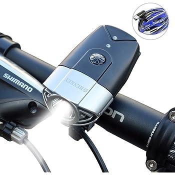 SHENKEY LED自転車ライト 2000mah 1200ルーメン USB充電 IP65防水 軽量