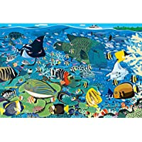 1000ピース ジグソーパズル めざせ! パズルの達人 グレートバリアリーフの海(50x75cm)