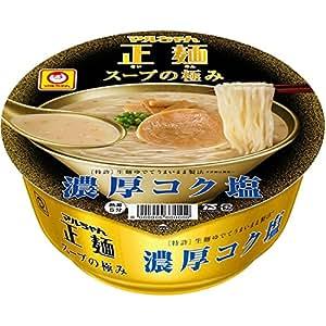 マルちゃん正麺 カップ スープの極み 濃厚コク塩 103g×12個