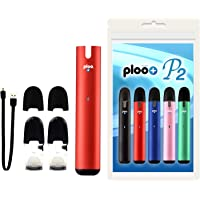 プルプラ 電子タバコ P2 スターターキット フレーバーポッド2個付き (レッド)