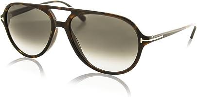 Gucci Men's Jared FT0331 56P Aviator Sunglasses, Tortoise, 58 mm