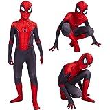 Leezeshaw Superhero Spiderman Costumes Unisex Adults Kids Lycra Spandex Zentai Spider Verse Miles Morales Jumpsuit Bodysuit H
