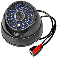 Vanxse? Cctv 48pcs Leds Ir-cut Metal Case Armour Dome Ip Security Camera 1.0mp 720p P2p Network Surveillance Ip Camera Support Iphone/smart Iphone View Onvif [並行輸入品]