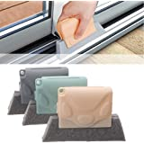 YanYoung Creative Window Groove Cleaning Brush(3PCS ), Hand-held Crevice Cleaner Tools, Fixed Brush Head Design Scouring Pad