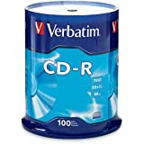 Verbatim CD-R 700MB 80 Minute 52x Recordable Disc - 100 Pack Spindle (FFP) - 97458